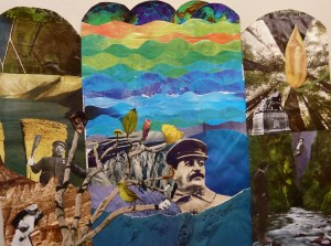 Seward High Art – Triptych Collages