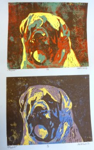Seward Middle School Art: linocuts