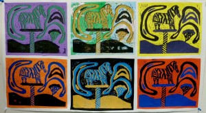 Seward High Art: Linocuts