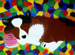 Seward Middle School Art: Acrylic Paintings
