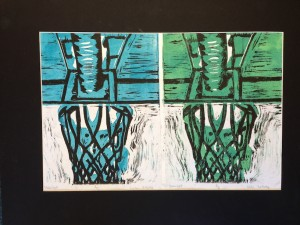 Seward High Art: Reductive Linoleum Prints