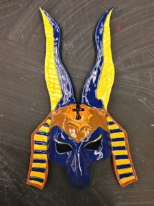 Seward High Ceramics: Masks and Wheel Projects