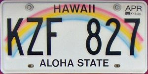 hawaii-license-plate