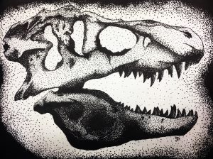 Stippled Skulls from Seward High