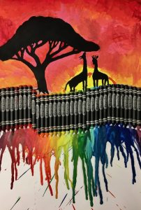 Seward High Art: Crayon Art!